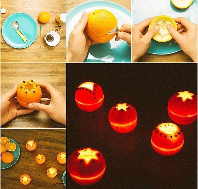 Basteln mit Orangen