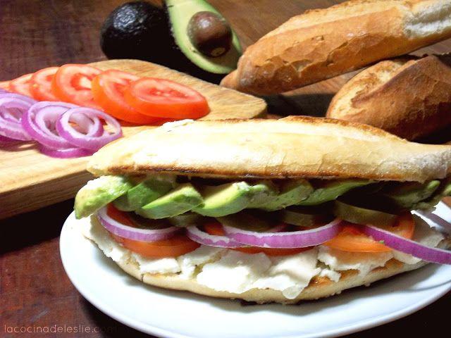 La Cocina de Leslie: Lonche de Aguacate con Queso #amolosaguacates