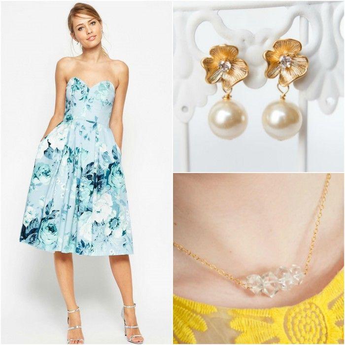 Summer wedding fashion guide by Lipstick & Chiffon; Jewelry by J'Adorn Designs
