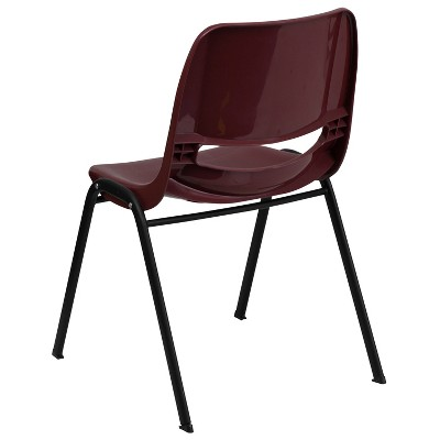 Riverstone Furniture Collection Plastic Stack Chair Burgundy Red