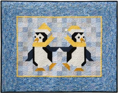 Penguin Patchwork Quilt Pattern Fred And Ginger Are Two