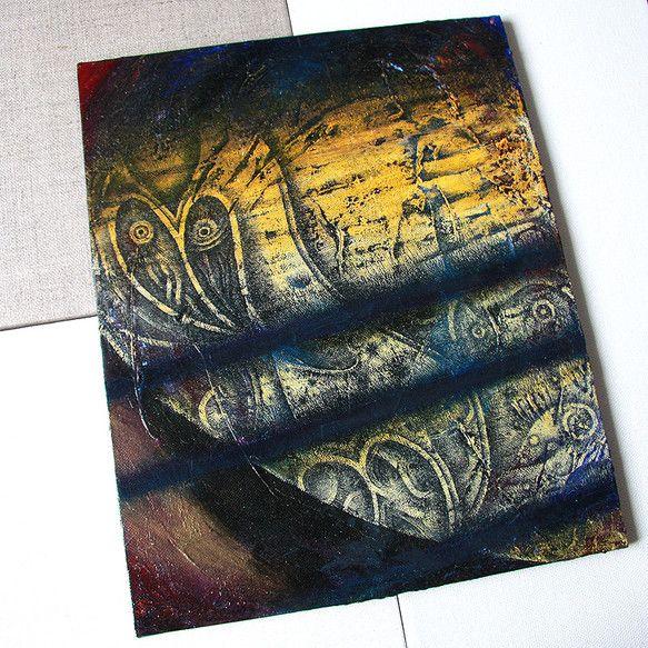 土星をイメージして描きました。サイズはF3(27.3×22cm)のキャンバスボードに描いております。土星はギリシア神話の登場人物、クロノス(サター...|ハンドメイド、手作り、手仕事品の通販・販売・購入ならCreema。