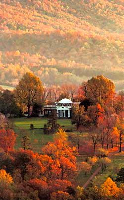 Monticello Home Of Thomas Jefferson In The Fall Charlottesville Va Beautiful Part State