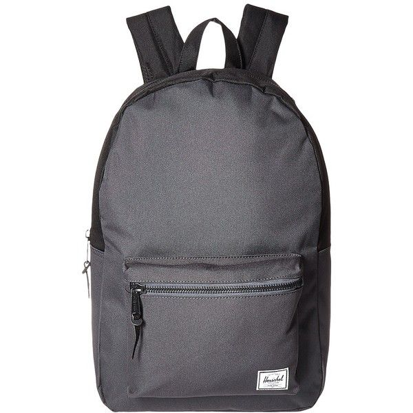 8fbb8470475 Herschel Supply Co. Settlement (Dark Shadow/Black) Backpack Bags ($60) ❤  liked on Polyvore featuring bags, backpacks, leather rucksack, padded  laptop ...
