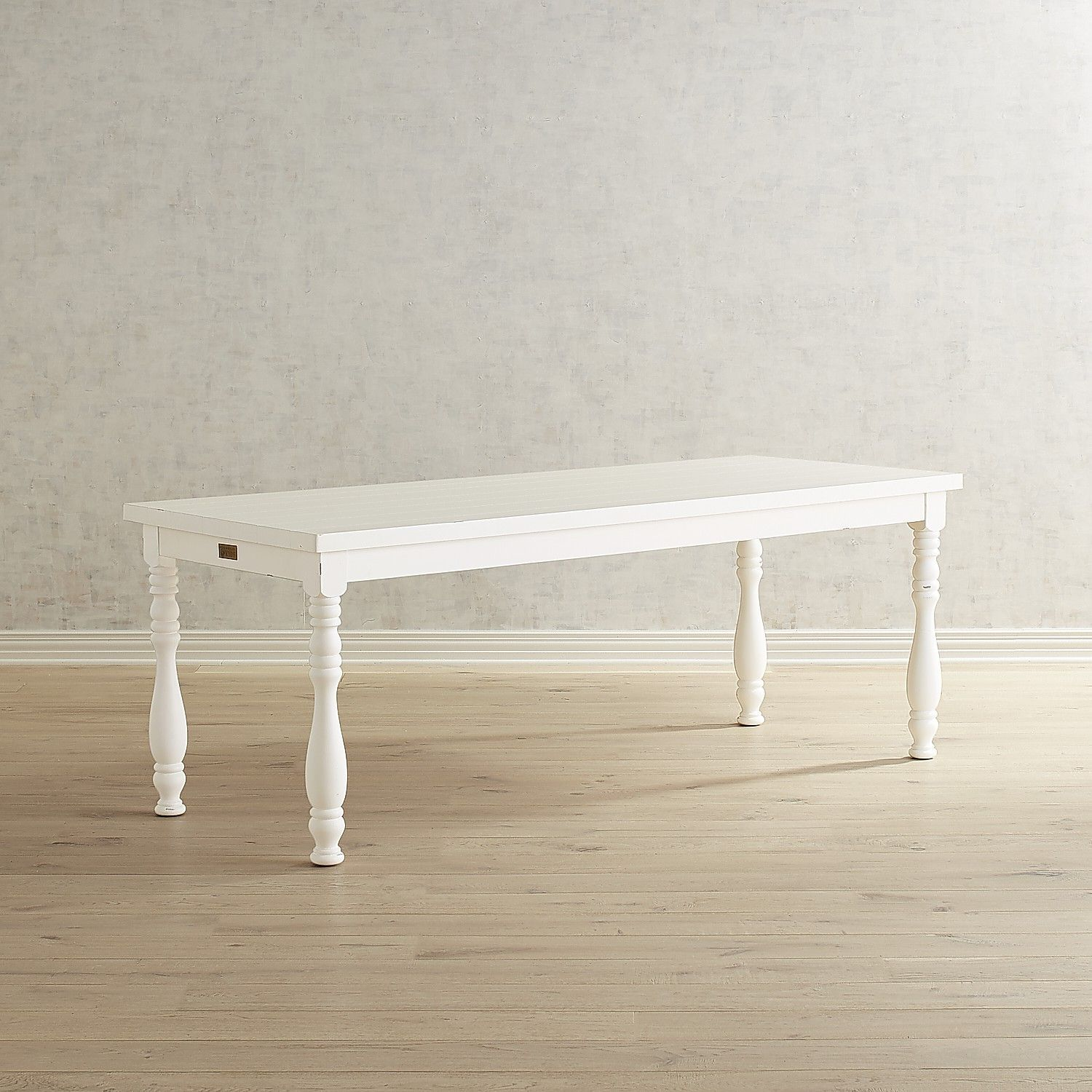 Magnolia Home 7 White Turned Leg Dining Table Dining Table