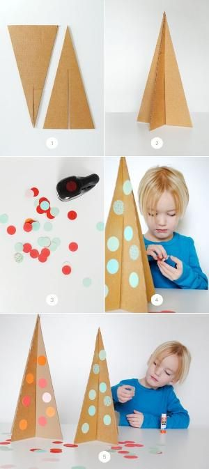Easy DIY Cardboard Christmas Trees by sophia_dickson