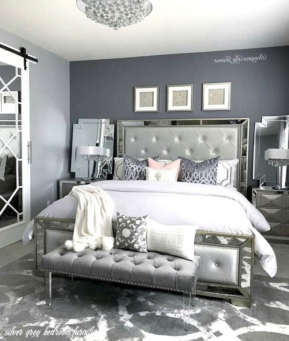 Honeywerehome Added A Pop Of Bold Beauty To Her Bedroom With Our Devon Mirror Small Master Bedroom Silver Bedroom Bedroom Makeover