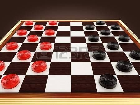 Board Game Pieces Checkers Game Board And Pieces 3d Illustration
