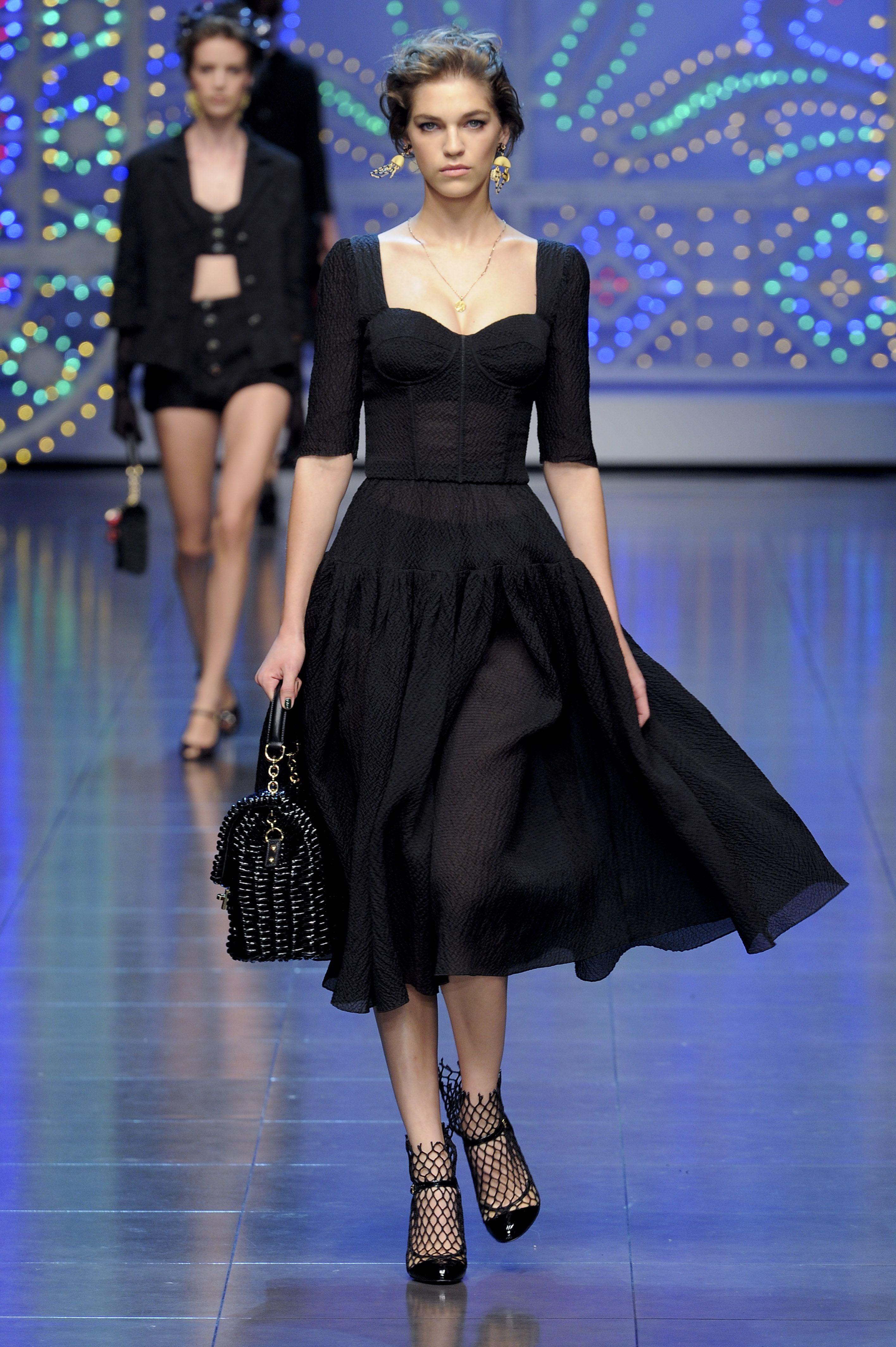 a6a244e9f11 Dolce and Gabbana black Sophia Loren dress -
