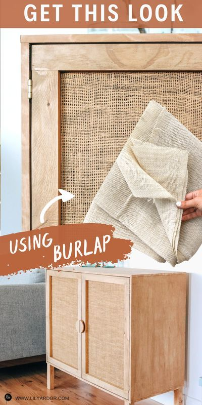 Photo of HOW TO MAKE A RATTAN CABINET USING BURLAP!