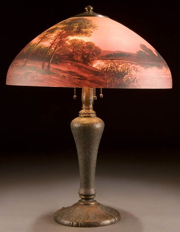 473 a vintage handel lamp circa 1900 domed textured on tree 473 a vintage handel lamp circa 1900 domed textured on liveauctioneers mozeypictures Choice Image