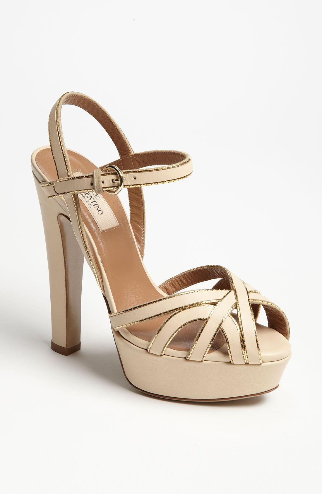 Valentino Embossed Platform Sandals cheap best tmH7l