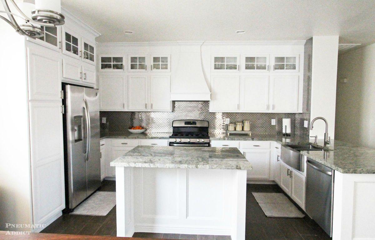 Diy Stacked Cabinet Kitchen Makeover Kitchen Cabinet Design Kitchen Cabinet Styles Builder Grade Kitchen