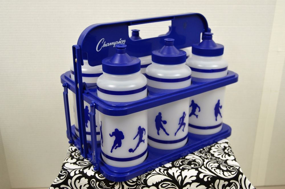 New Champion Football Team Collapsible Water Bottle Set