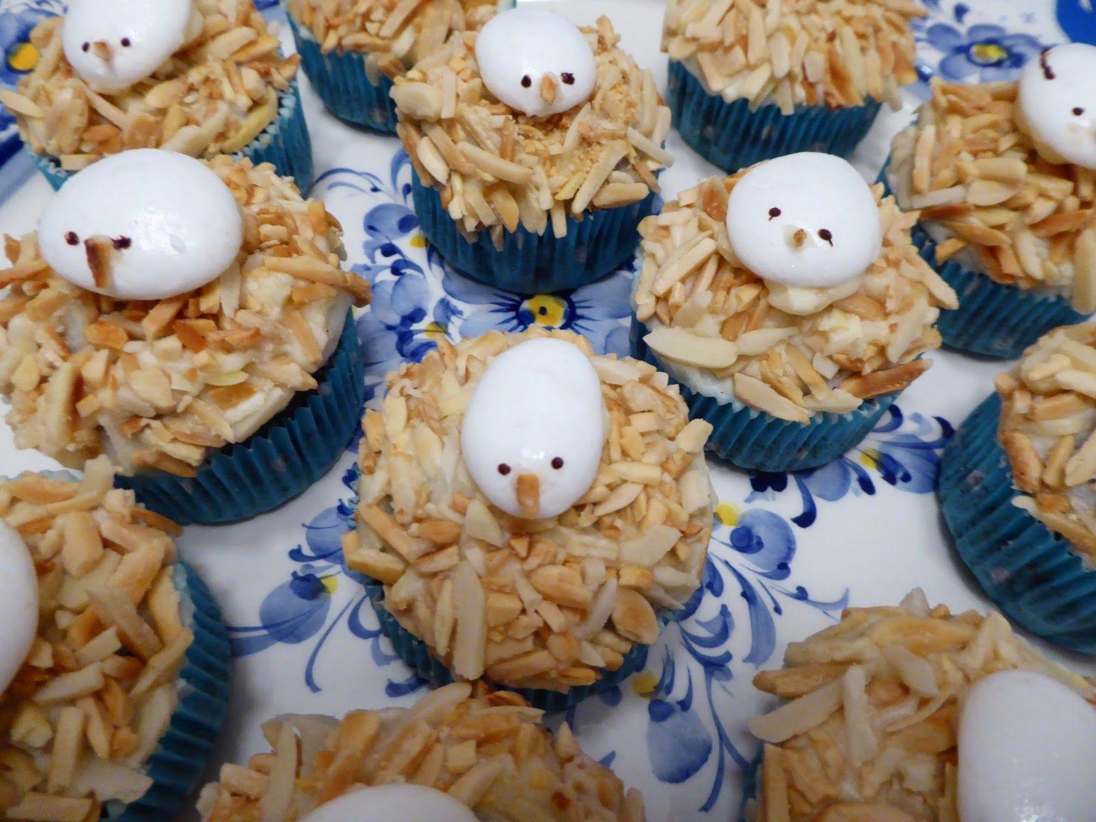 Twinkle Twinkle Little Vegan : Cupcakes de Alfarroba com Ninhos de Passarinhos