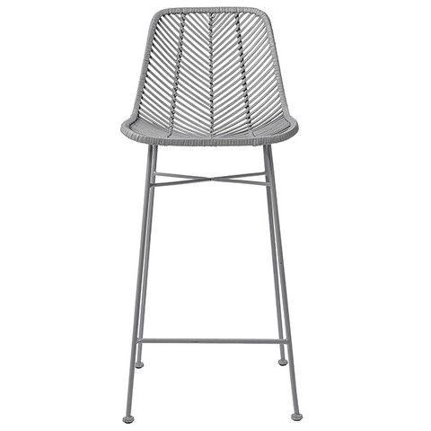 Light grey rattan bar stool like some you pinned good