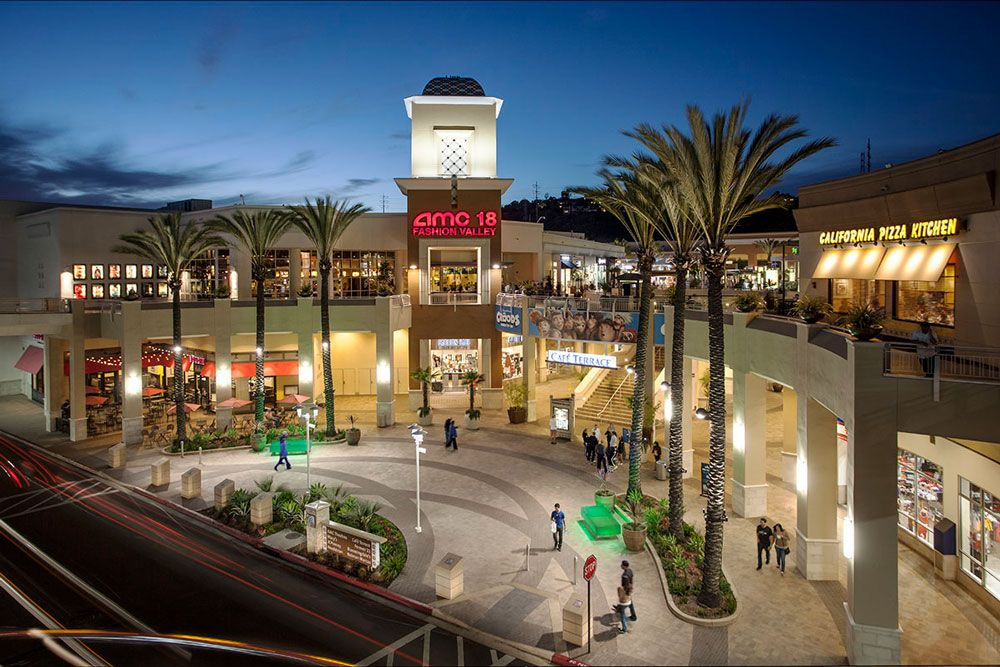 Fashion Valley Mall Downtown San Diego