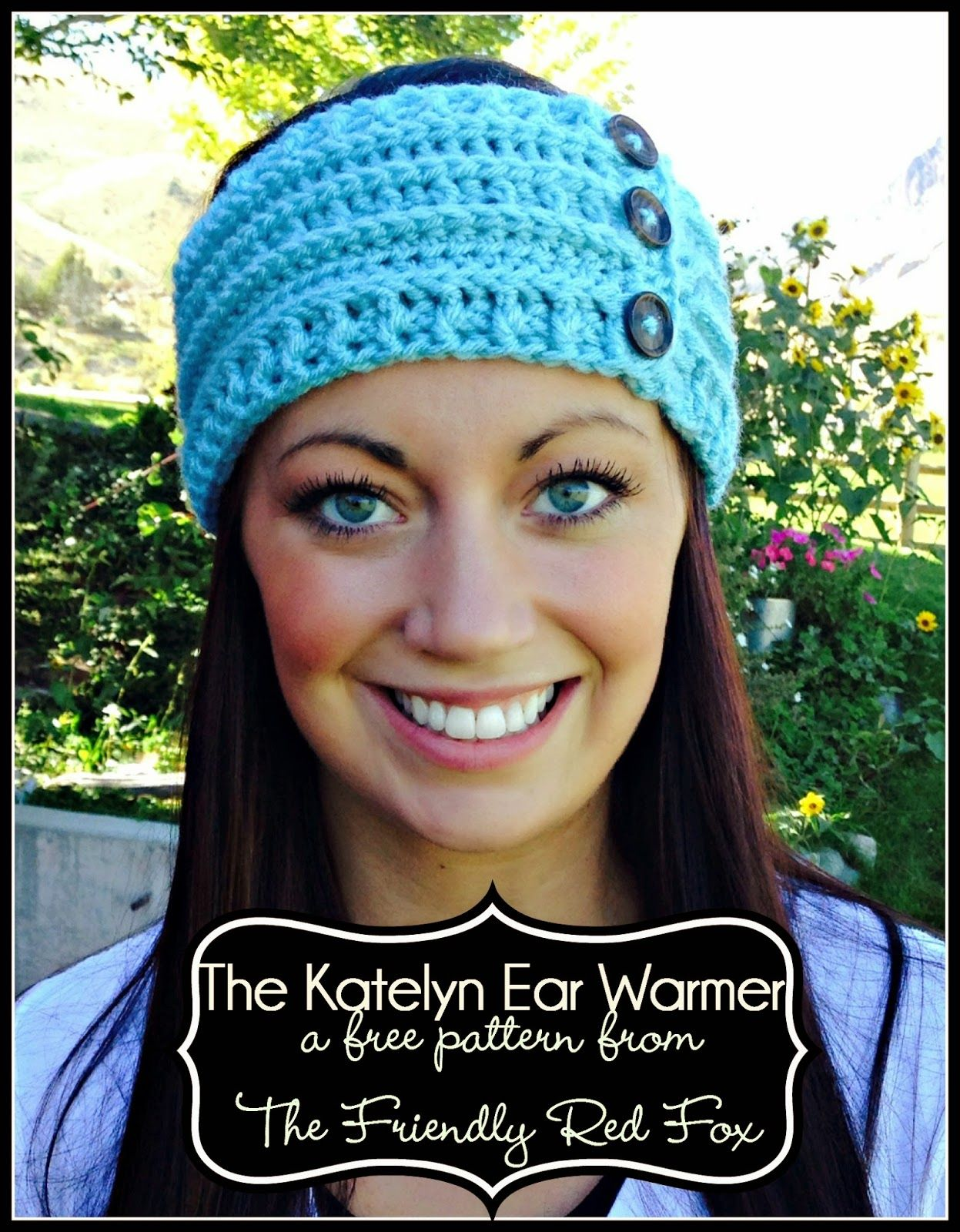 Beautiful crochet ear warmer: FREE crochet pattern. I love the post ...