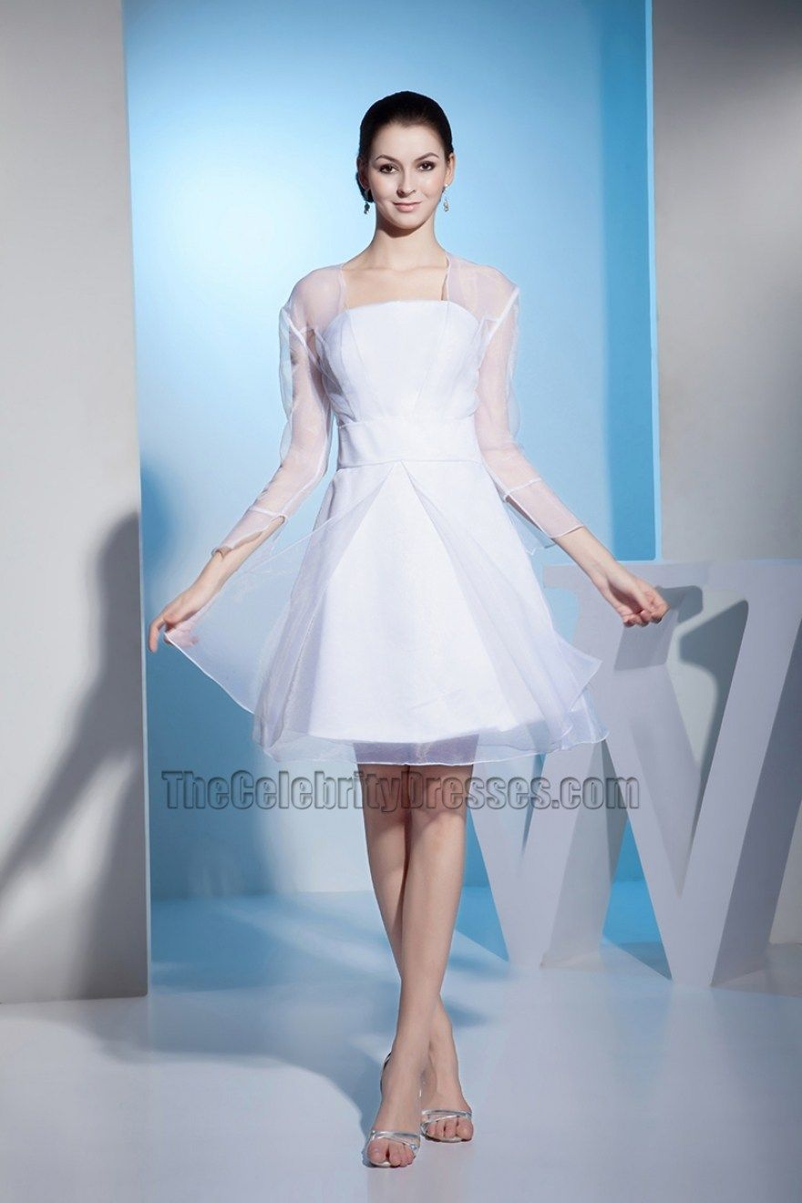 32 Amazing Short White Dresses For Wedding Reception   Short white ...
