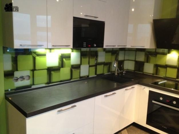 Modern Kitchen Glass Backsplash colorful glass backsplash ideas adding digital prints to modern