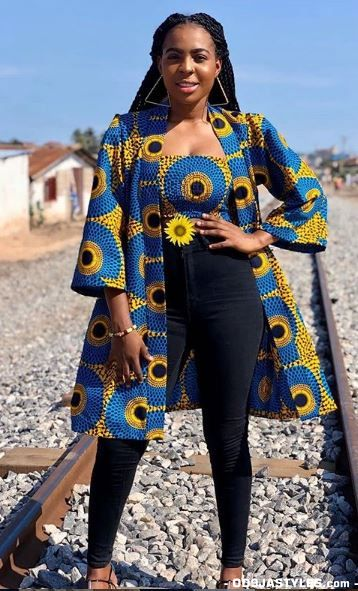 Ankara top and jacket styles you should have  #africandressstyles