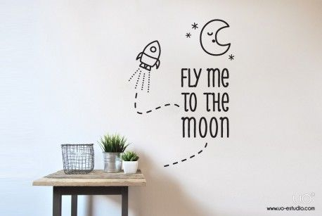"Vinilo: ""Fly me to the moon"" - UO ESTUDIO, S.L."
