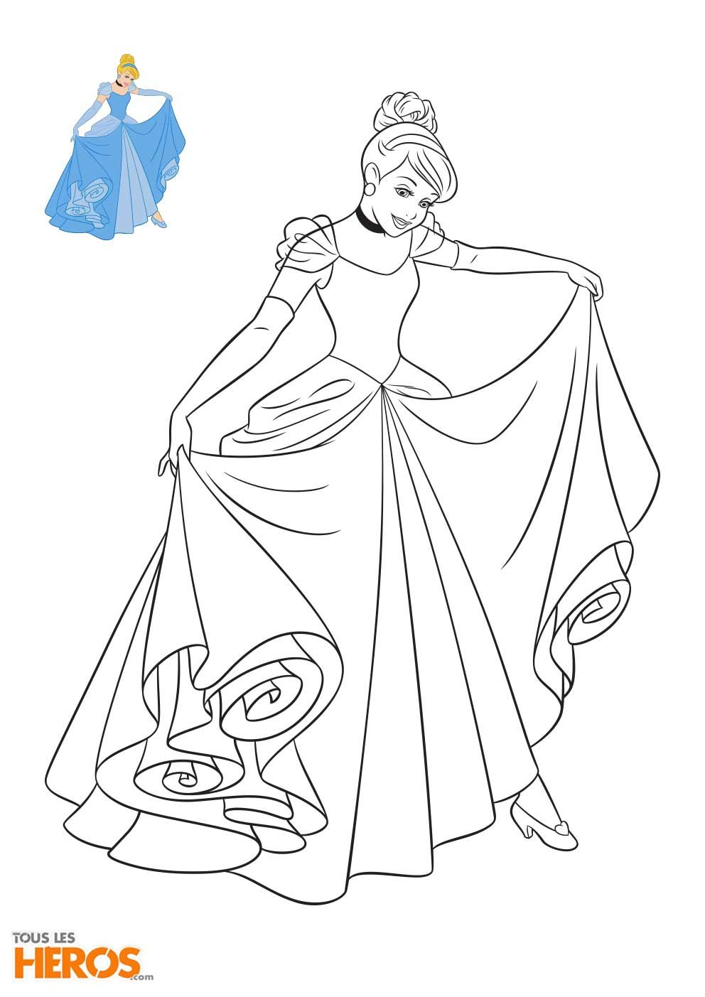 Cette semaine Tous les Héros vous propose d imprimer les coloriages Disney Princesses Retrouvez La Petite Sir¨ne Tiana de La Princesse et la Grenouille