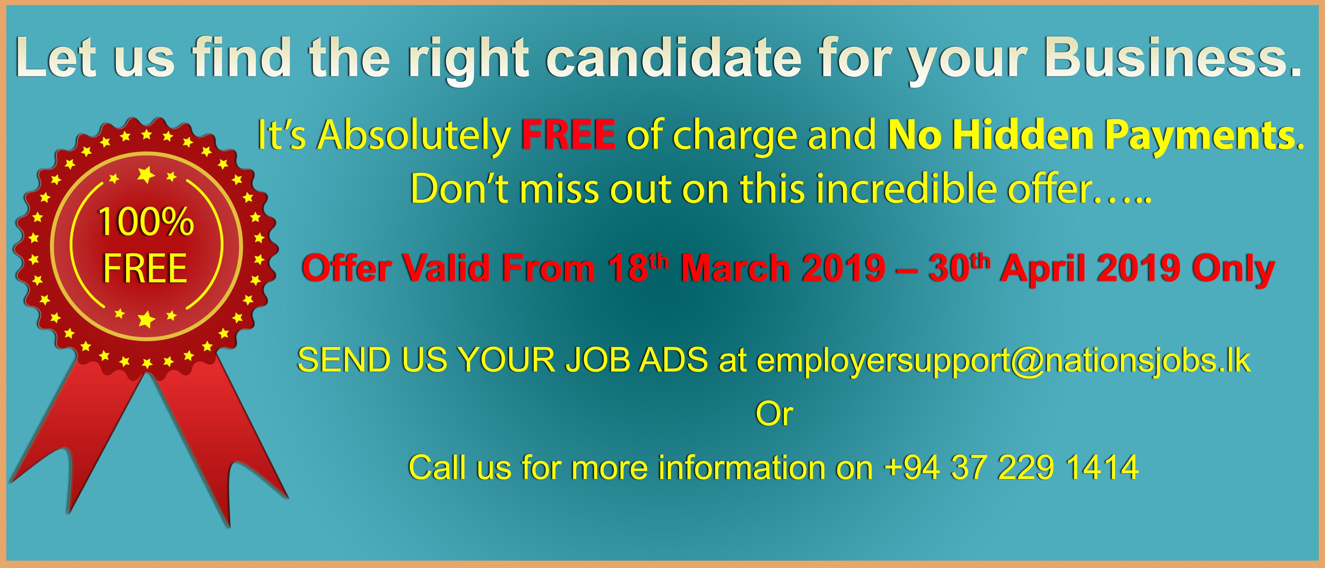 Let Us Find Right Candidate For Your Business Visit Us At Www