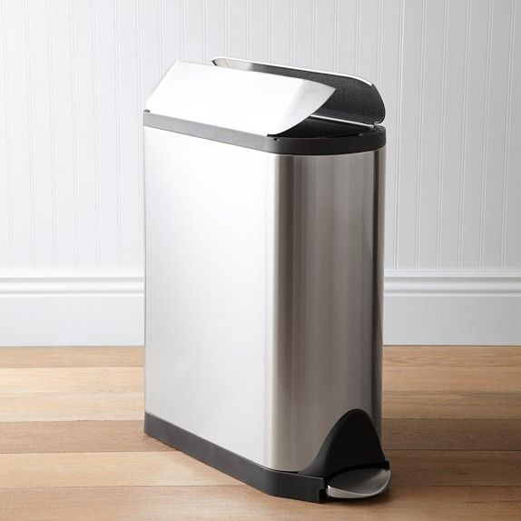 Simplehuman Butterfly Step Can 45l With Images Trash Can