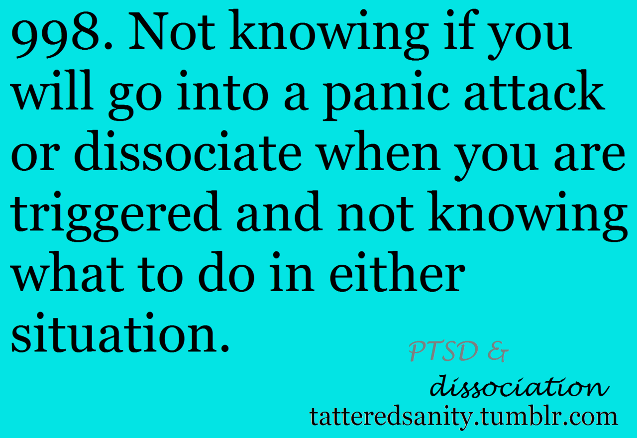 PTSD & dissociation.-- When you wake from a dream standing up because your disease has hijacked your brain & body.