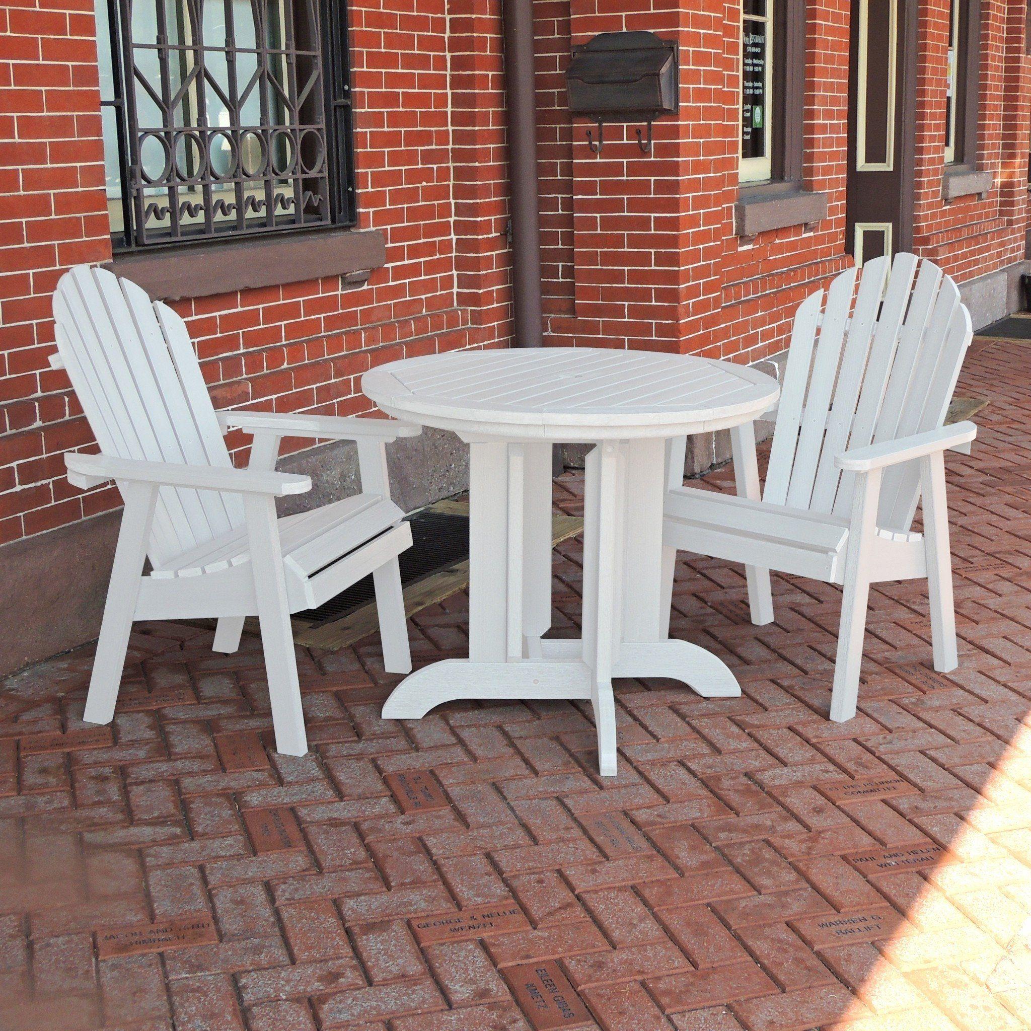 Highwood Usa Recycled Plastic Hamilton 3pc Round Dining Set