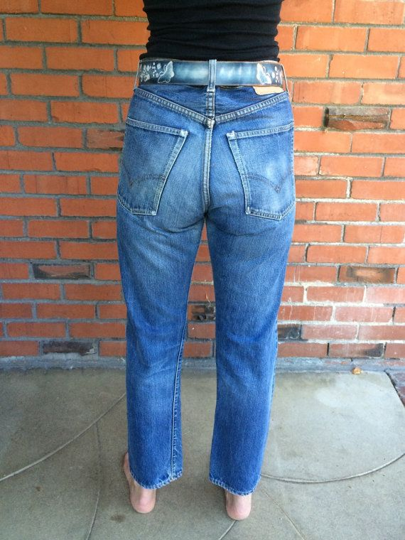 60s LEVIS Big E Jeans 505 Indigo Single Stitch 33 Waist