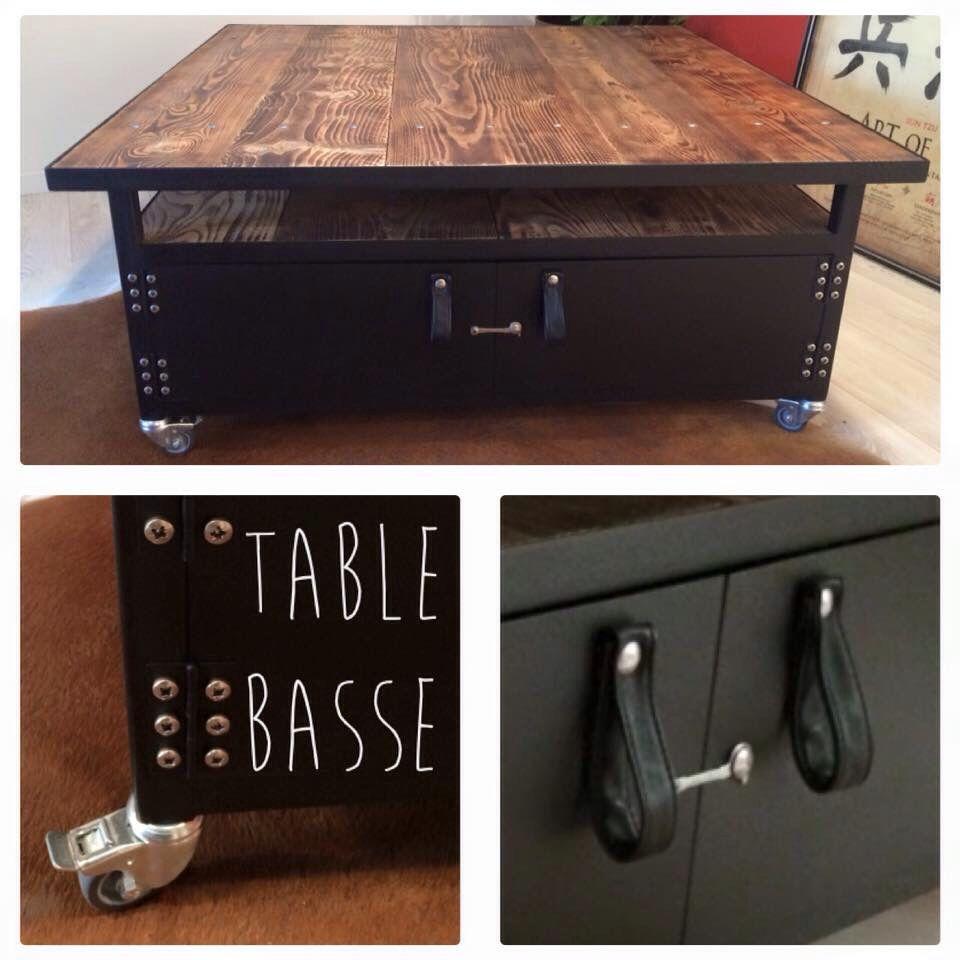 Table Basse Placard Châssis Et Habillage Tube Acier Et Tôle