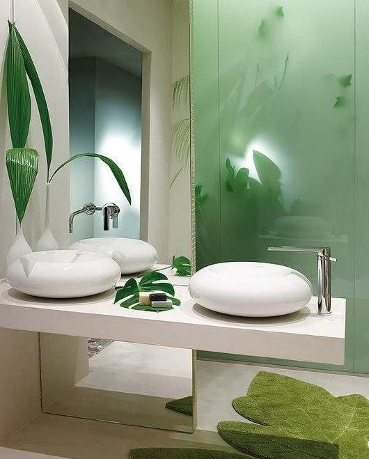 garden themed bathroom create a perfect botanical look with plants and green hues themed. Black Bedroom Furniture Sets. Home Design Ideas