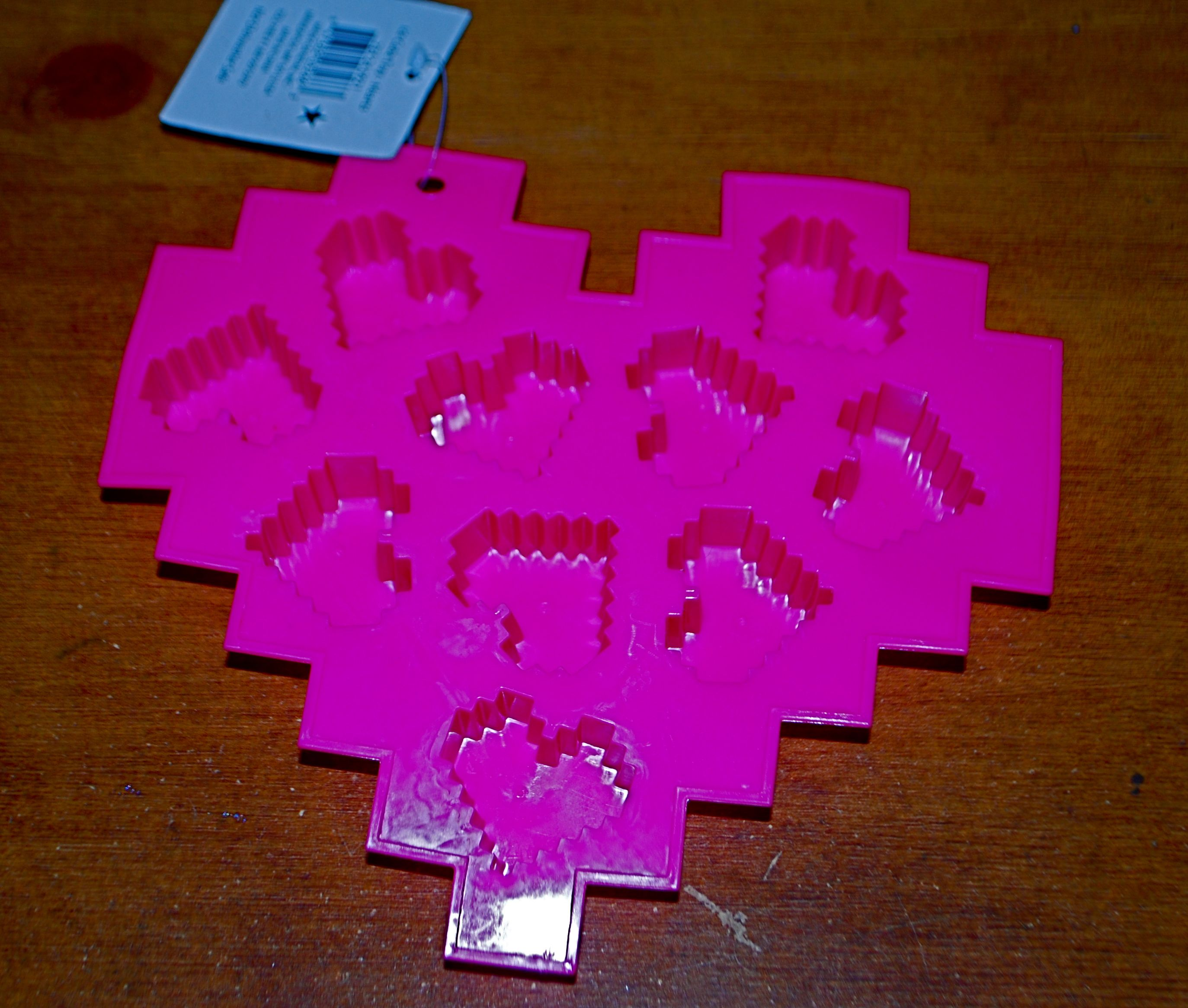 Pixel heart ice trays found in the dollar bins at Target 8/24/13. My ...