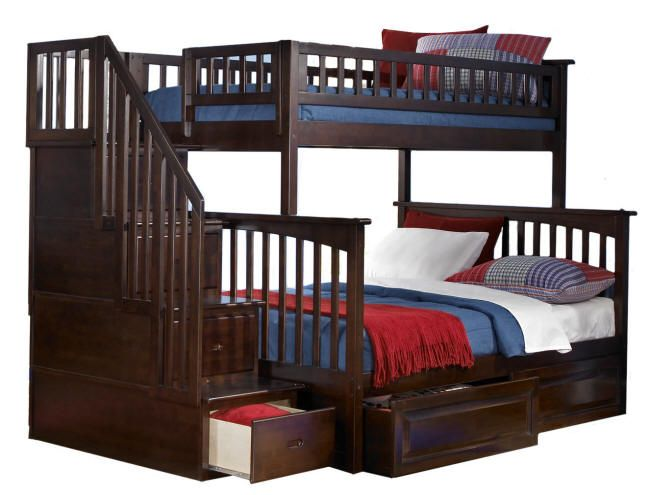 Awesome Bunk Bed With Built In Storage In The Stairs