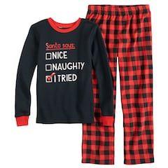 55f2a0f04 Boys 4-12 Carter's 'I Tried' 2-Piece Pajama Set | Christmas 2018 ...