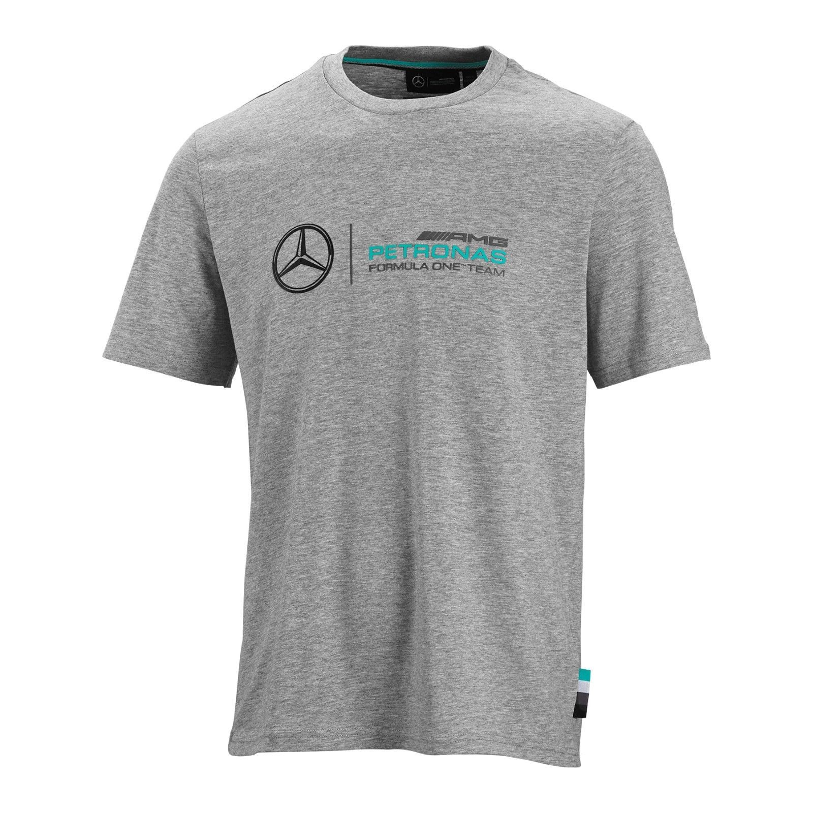 Mercedes Benz Amg Petronas Formula 1 Gray Logo TShirt 100