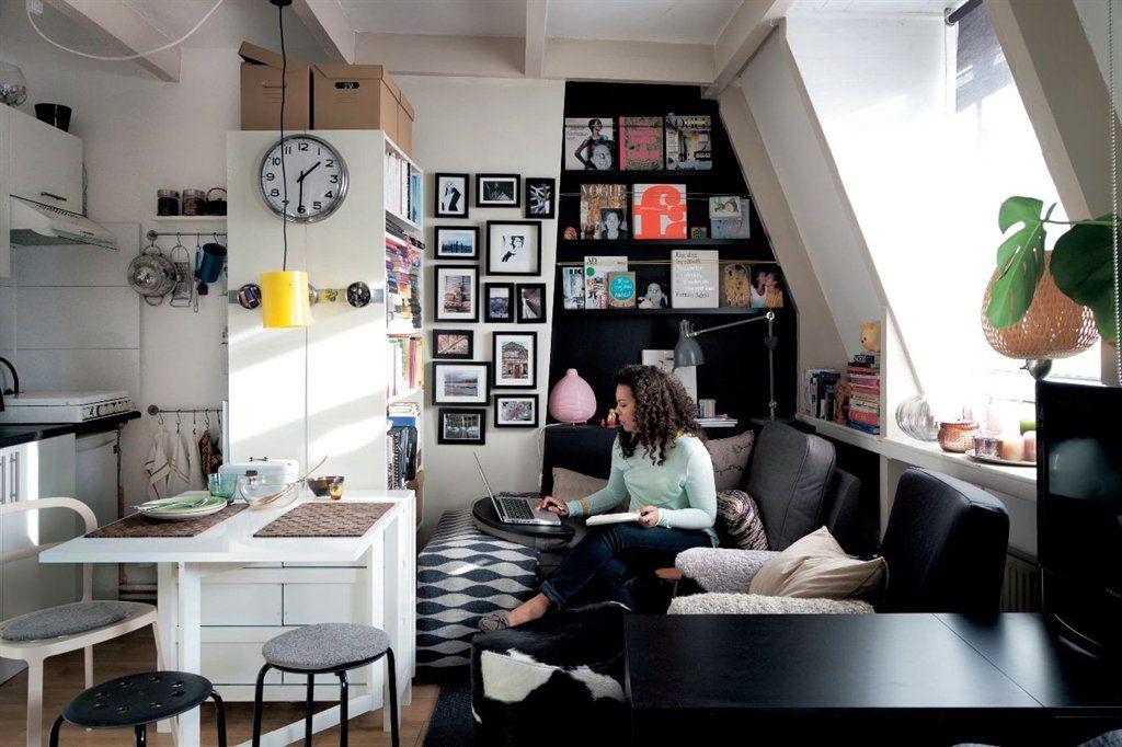 id es pour transformer un petit espace magazine ikea tiny flats pinterest small spaces. Black Bedroom Furniture Sets. Home Design Ideas