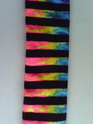 b83fd9a7ac6 Rainbow Neon Black Stripes Knee High Socks NWT Free Shipping