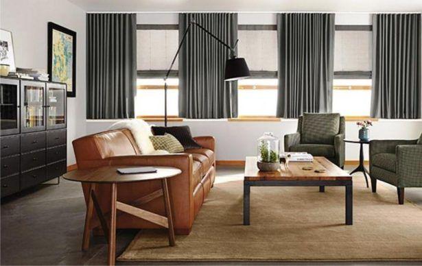 Living Room:Mid Century Modern Window Treatments Mid ...