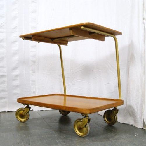 DESIGN SERVIERWAGEN TEEWAGEN VINTAGE 50ER 60ER BARWAGEN DANISH DESIGN TISCH | eBay