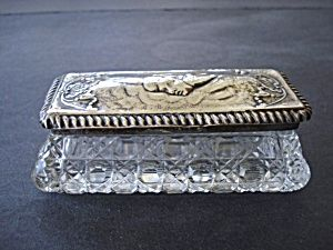 Crystal Sterling Dresser Box Antique | Cristales, Jarrones