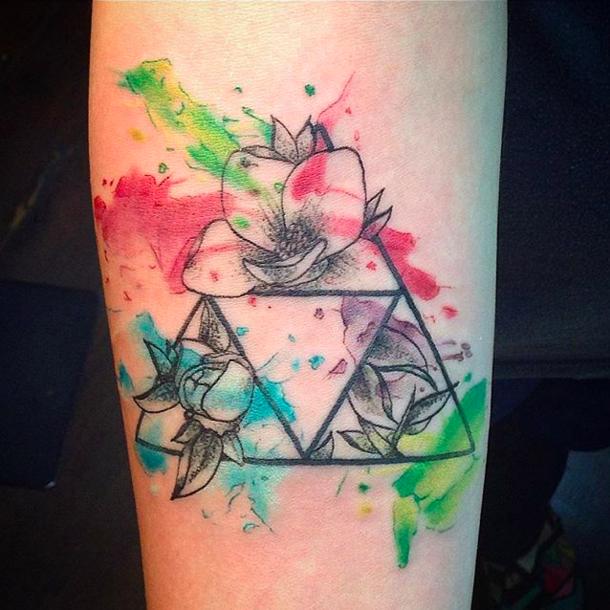This wonderful Triforce Zelda tattoo, Legend of zelda