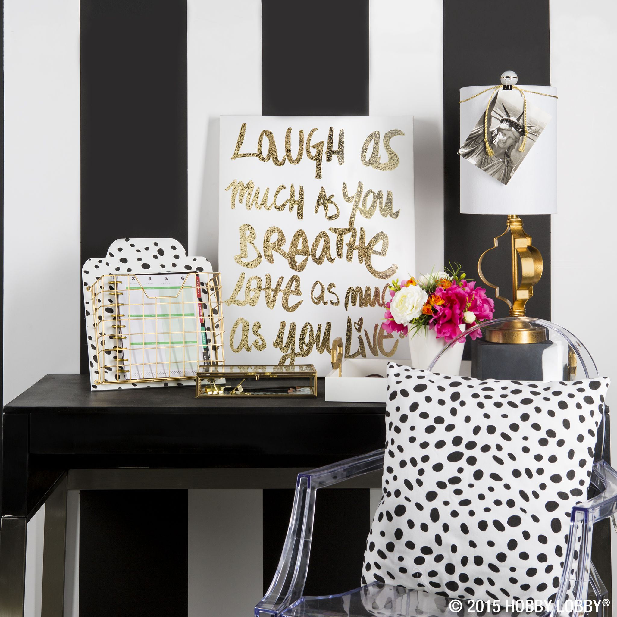 Black And Gold Is The Latest Trend In Home Decor. Are You