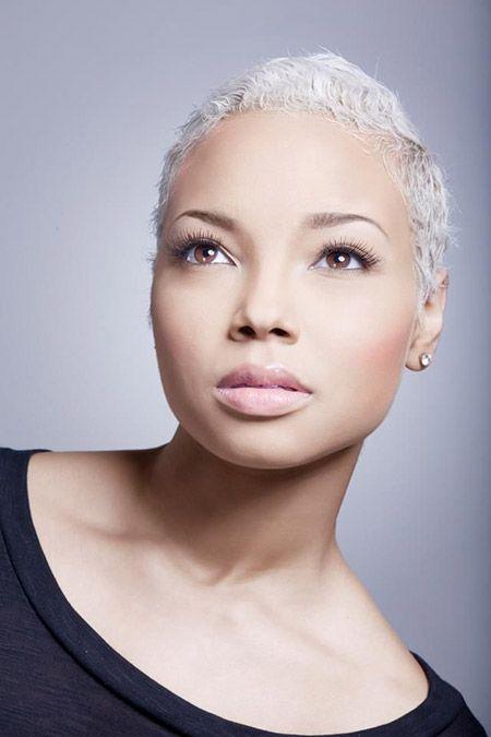 Black Women Short Cuts | Short white hair, White hair and ...