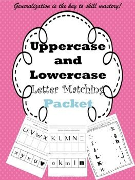 UppercaseLowercase Letter Matching Packet  Activities Student