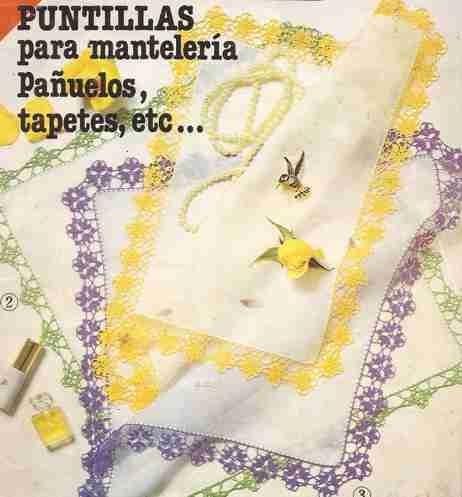Esquemas | CTejidas: Punto Rama Ganchillo - Puntillas para ...