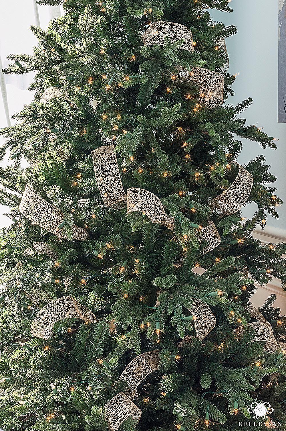 christmas tree ribbon #christmas #tree #christmastree How to Decorate a Christmas Tree with Ribbon   Kelley Nan #ribbononchristmastreeideas