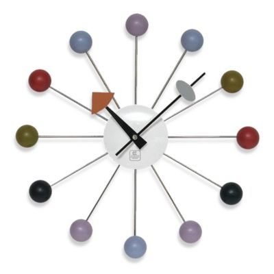 Cupecoy Design Colorful Wooden Ball Clock Retro Wall Clock Wall Clock Wall Clock Modern